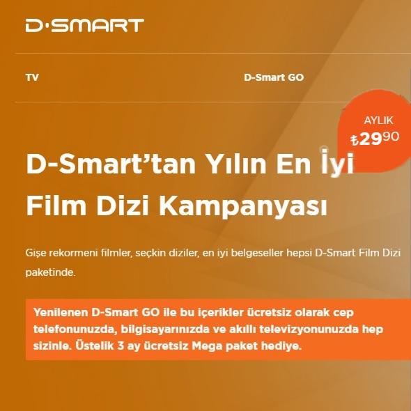D-Smart'tan Yılın En İyi Film Dizi Kampanyası!