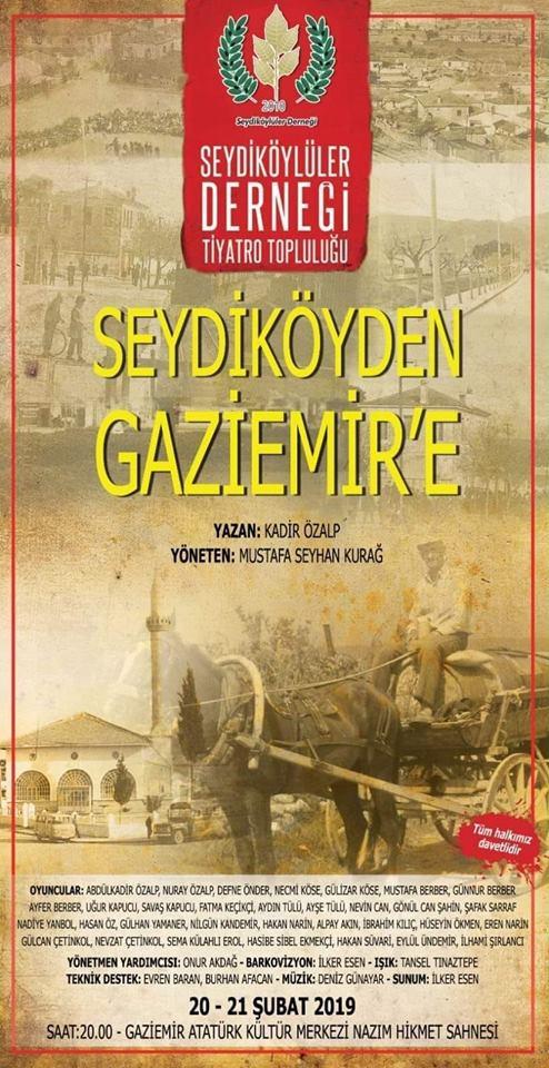 Seydiköy'den Gaziemir'e