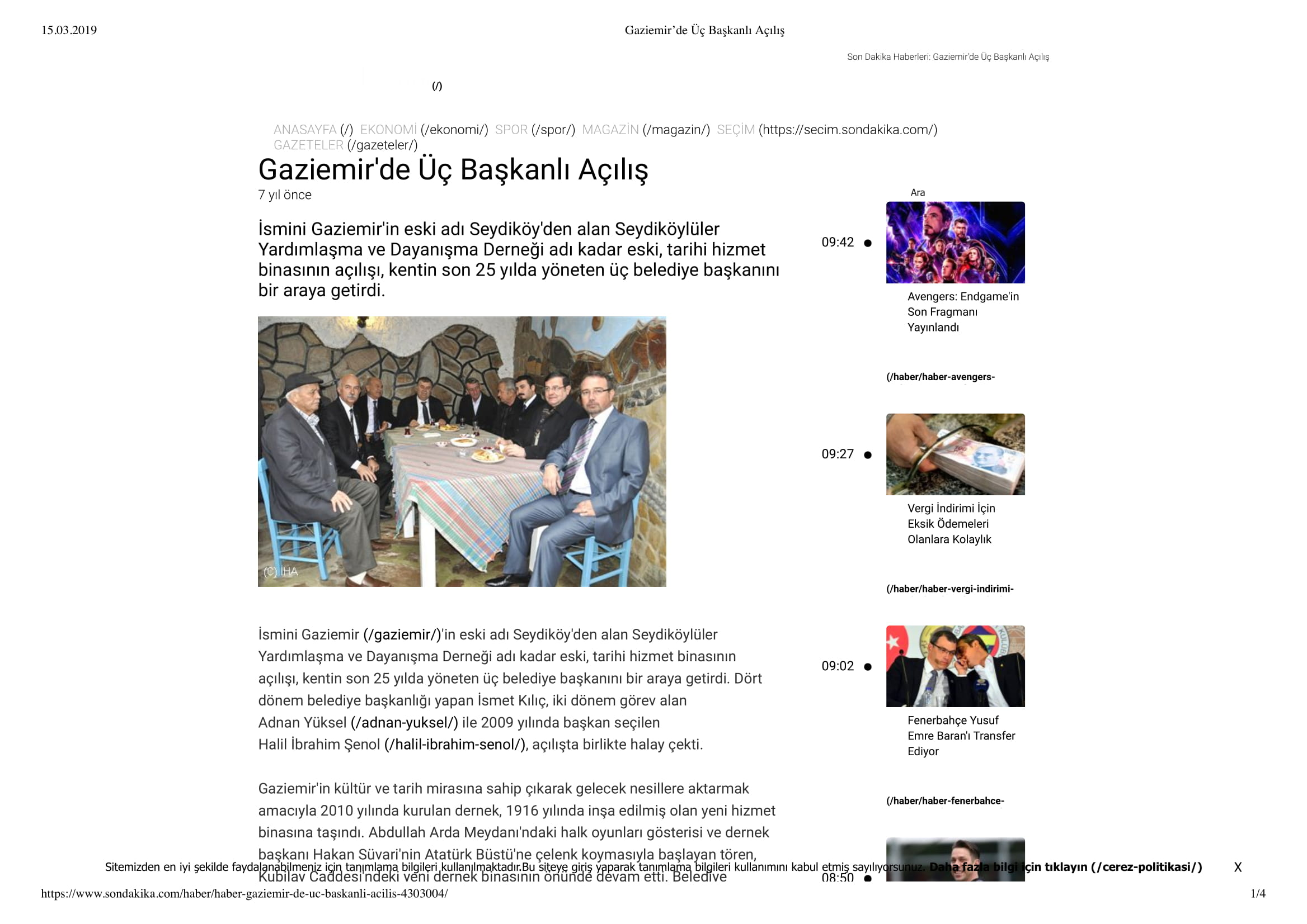 Gaziemir'de Üç Başkanlı Açılış