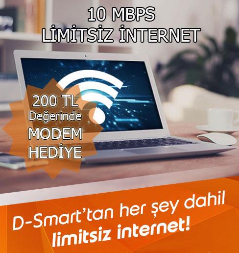 10 MBPS Limitsiz İnternet
