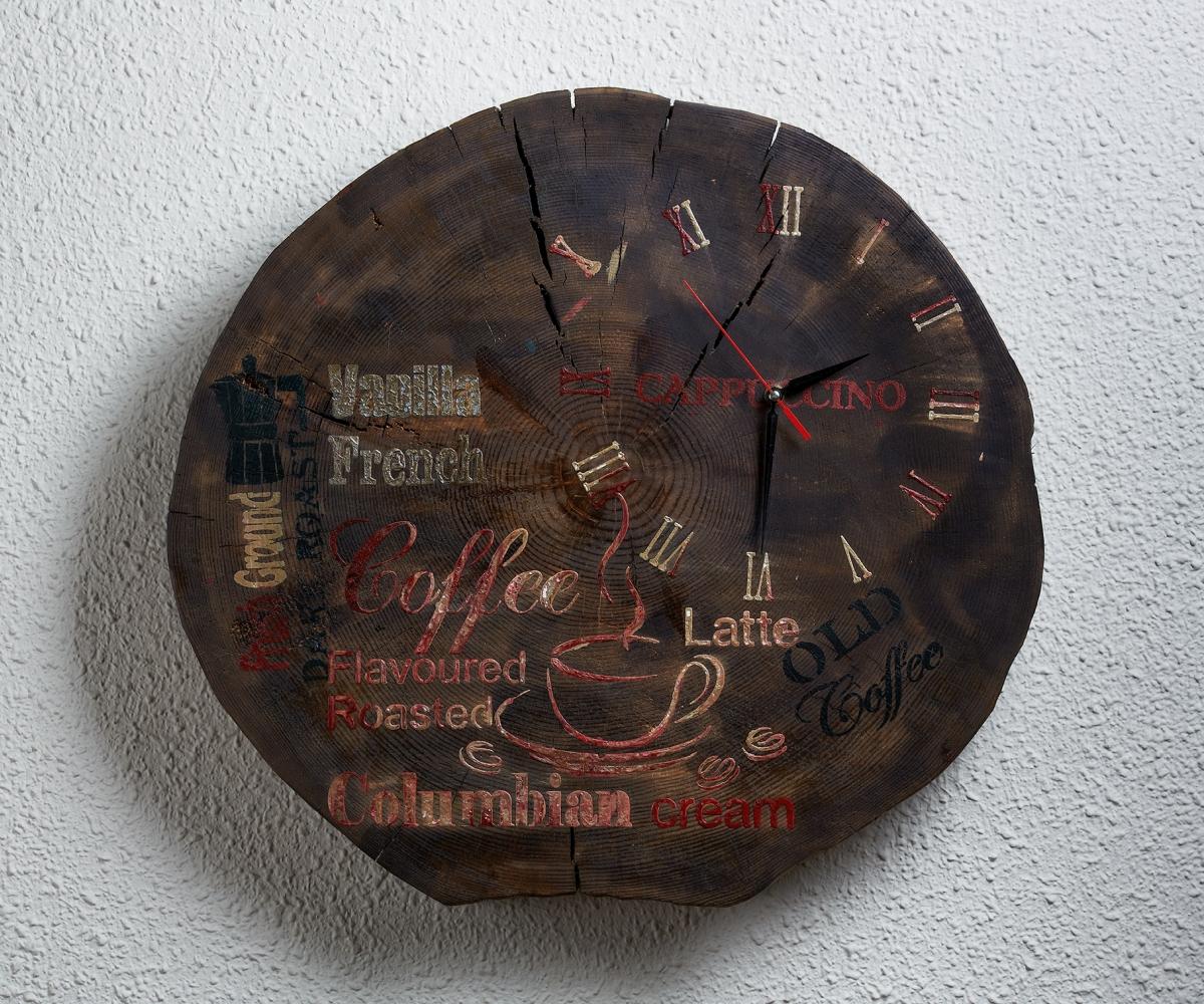 Ahşap Kütük Duvar Saati