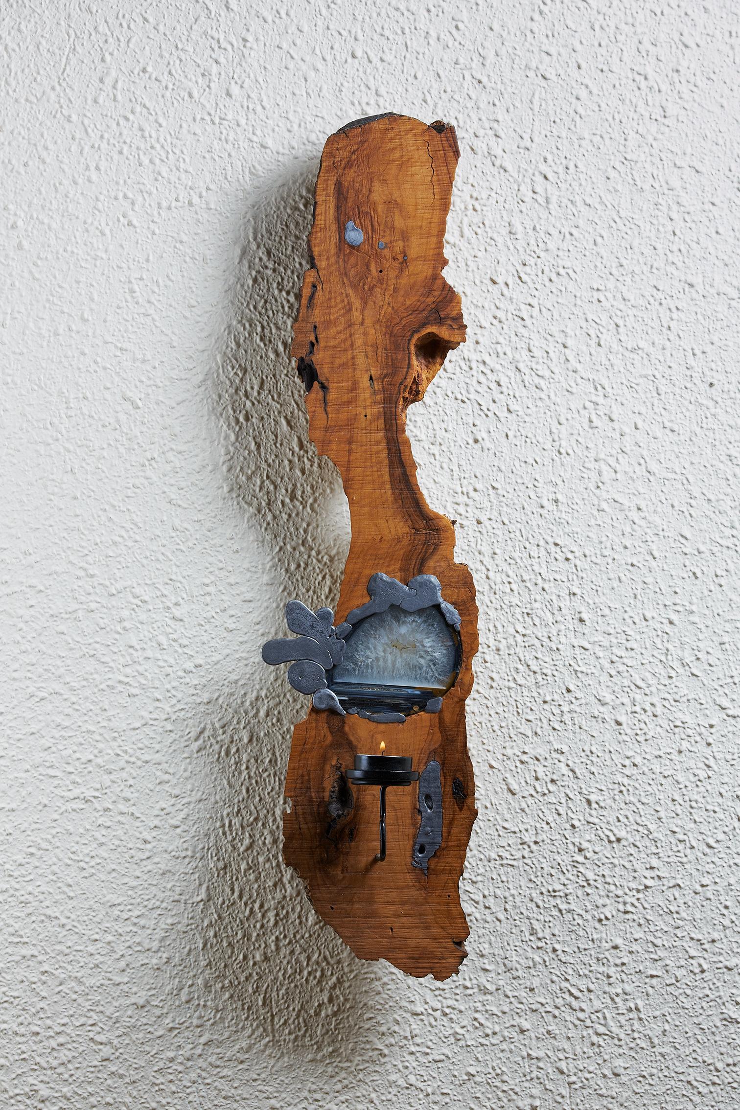 Zeytin Ağacı Duvar Mumluk